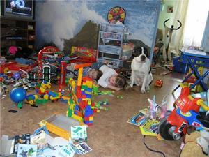 Разбросанные игрушки